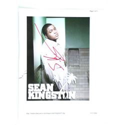 Sean Kingston Signed Photo