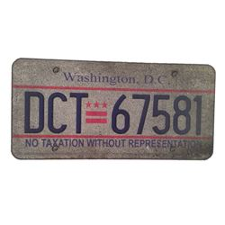 Resident Evil: The Final Chapter Washington DC License Plate Movie Props