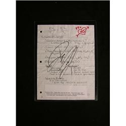 Spider-Man: Turn Out the Dark Signed Paper Prop