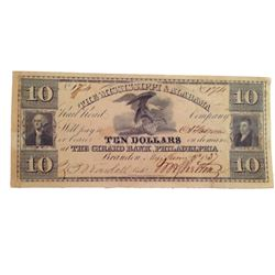 Django Unchained $10 Bank Note Movie Props