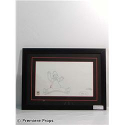 The Simpsons Movie Original Production Drawing Framed