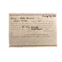 Django Unchained Dr. Schultz (Christoph Waltz) Slave Paperwork Movie Props