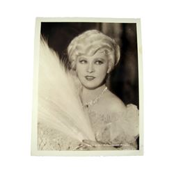 Mae West 1940's Promotional Photo Movie Collectibles