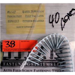 "40 Boxes #8x1-1/2"" Exterior Sheathing Screws, Clear Zinc Coating - Total Screws = 400,000"