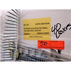 40 Boxes #6x1-7/8  Drywall Screws, Clear Zinc - Total Screws = 400,000