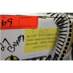 """27 Boxes #6x1-1/4"""" Drywall Pokers, Black Phosphate - Total Screws = 270,000"""