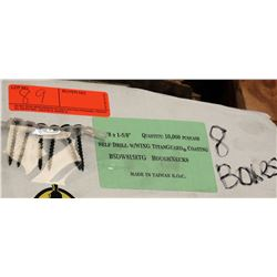 "8 Boxes #8x1-5/8"" Self Drill Wing  Screws, Titanguard - Total Screws = 80,000"