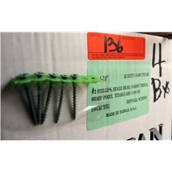 "4 Boxes #--x1-7/8"" Drywall Screws, Titanguard Coating - Total Screws = 40,000"