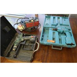 3 Tools - Makita Cordless Drill, Ryobi Belt Sander & XR Pack Drill