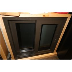 2 Panel Window in Wood Frame