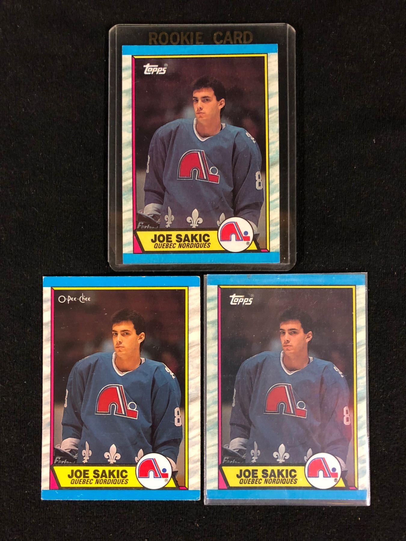 1989 90 Topps 113 Joe Sakic Rookie Card Lot