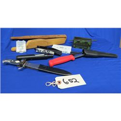 Lot of Assorted Calls, Knives, accessories