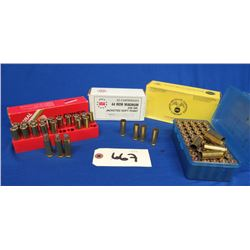 Lot of 44 Magnum, Brass and Ammo