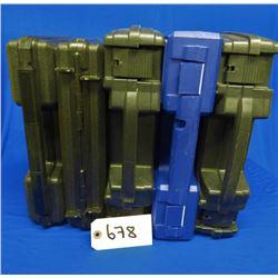 Lot of Five Plastic Handgun Cases