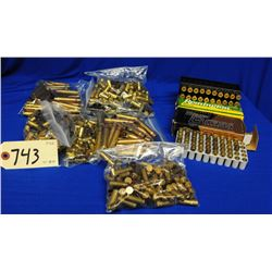 Box lot brass and ammo