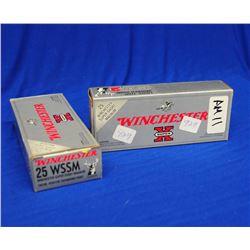 40 Rnds Winchester Factory 25 WSSM ammunition