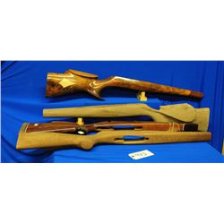 Four Partially Finished Wood Gun Stocks