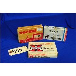 7 X 57 Factory Ammo