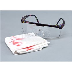 Agent Dana Scully's (Gillian Anderson) Autopsy Goggles and Bloody Handkerchief - THE X-FILES (1993 -