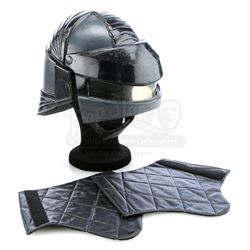 Visitors' Army Black Combat Helmet and Diana's (Jane Badler) Black Gauntlets - V (1984 - 1985)