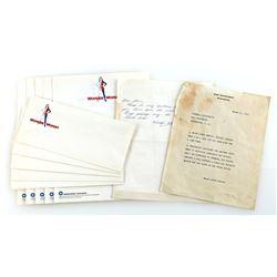 Signed Wonder Woman (Lynda Carter) Hand-Written Steve Trevor 'War Department' Typed Letter and Lette