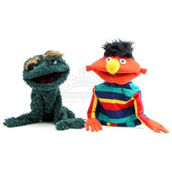 Ernie and Oscar The Grouch Muppet-Style Hand Puppets - MADTV (1995 - 2009)