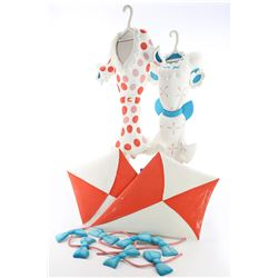 Two Dr. Seuss-Style Dimensional Kites With Tails and Two Dimensional Dresses - IN SEARCH OF DR. SEUS