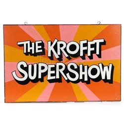 Hand-Painted 'The Krofft Supershow' Production Office Sign - THE KROFFT SUPERSHOW (1976 - 1978)