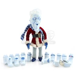 Snow Miser's Stop-Motion Puppet With Lip Kit Of Mouths - A MISER BROTHERS' CHRISTMAS (2008)