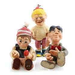 Three Clay Boy Puppets - GUMBY ADVENTURES (1988 - 2002)