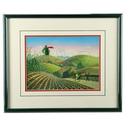 Jolly Green Giant and Sprout Framed Animation Set-Up With Hand-Painted Background - GREEN GIANT COMM