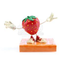 Strawberry Michael Jackson Fan's Claymation Puppet - MICHAEL JACKSON CALIFORNIA RAISINS COMMERCIAL (