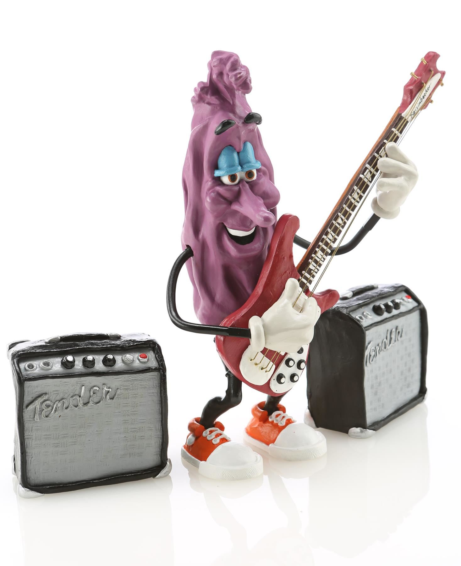 Stretch's California Raisin Puppet With Bass Guitar and Amps Replica Signed  By Will Vinton - CALIFOR
