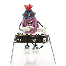 Red's California Raisin Puppet and Keyboard Replica Signed By Will Vinton - CALIFORNIA RAISINS (BASE