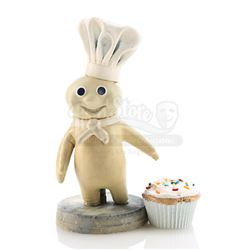 'Poppin' Fresh' Pillsbury Doughboy's Stop-Motion Puppet With Attached Rigid Peg-Registered Head - PI