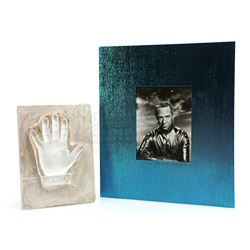 Ray Walston Signed Handprint and Photograph - MY FAVORITE MARTIAN (1963 - 1966)