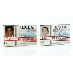Hymie (Dick Gautier) and Larabee's (Robert Karvelas) United States Intelligence Agency ID Badges - G