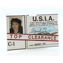 Agent 99's (Barbara Feldon) United States Intelligence Agency ID Badge - GET SMART, AGAIN! (1989)