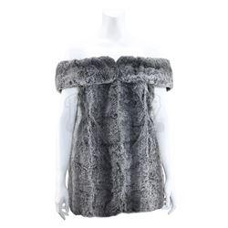 Lenore Karidian's (Barbara Anderson) Gray Faux Fur Mini-Dress and Faux Fur Vest - STAR TREK: THE ORI