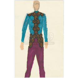 William Ware Theiss Hand-Drawn Costume Sketch Of Krodak's (Gene Dynarski) Gideon Uniform - STAR TREK