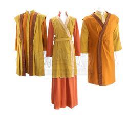 Three Aldean Alien Gold Tunic Costumes - STAR TREK: THE NEXT GENERATION (1987-1994) - WHEN THE BOUGH