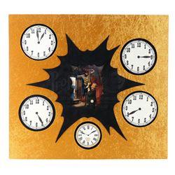 The Clock King (Walter Slezak) and His Henchmen's Signature Clock Patches - BATMAN (1966 - 1968)