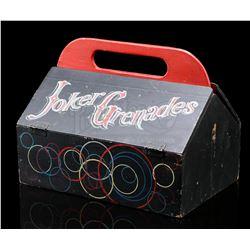 The Joker's (Cesar Romero) Grenade Kit/Egghead's Eggsplosive Radar Eggs Box - BATMAN (1966 - 1968)