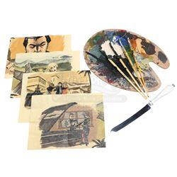 Matt Parkman's (Greg Grunberg) Precognitive Drawings, Paint Pallette, Brushes and Hiro Nakamura's (M