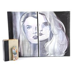 Isaac Mendez's (Santiago Cabrera) Props and Precognitive Painting Of Niki and Jessica Sanders - HERO
