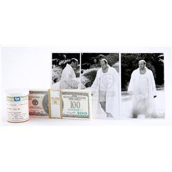 Tony Soprano's (James Gandolfini) Surveillance Photos, Pill Bottle and Strap Of Hundred Dollar Bills