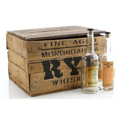 Prohibition-Era Light Wood Whiskey Crate and Whiskey Bottles - BOARDWALK EMPIRE (2010 - 2014)