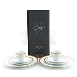 Onyx Club Menu, Matchbox and White China Place Setting - BOARDWALK EMPIRE (2010 - 2014)