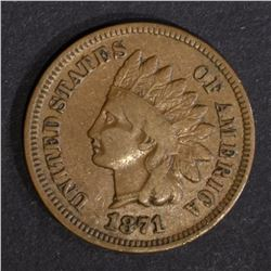 1871 INDIAN CENT, VG+ KEY DATE