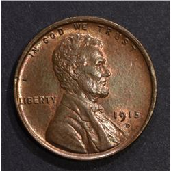1915-D LINCOLN CENT, CH BU